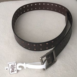 NWT Relic Brown leather belt sz M